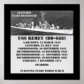 USS Remey (DD-688) Impresiones