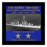 USS Remey (DD-688) Posters