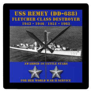 USS Remey DD-688 Relojes De Pared