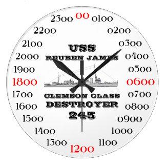 USS Reuben James (DD-245) Wallclocks