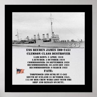 USS Reuben James (DD-245) Impresiones