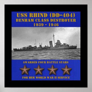 USS Rhind (DD-404) Poster