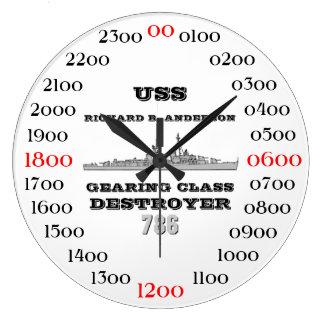 USS Richard B. Anderson (DD-786) Large Clock