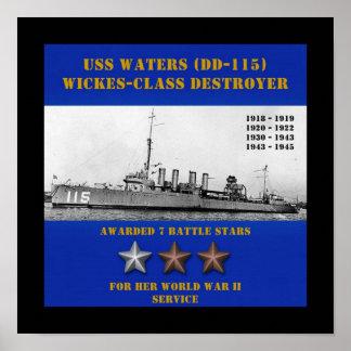 USS riega (DD-115) Posters