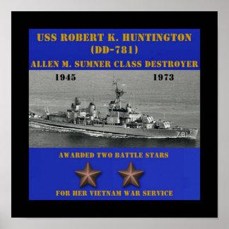 USS Robert K. Huntington (DD-781) Poster
