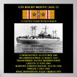 USS ROCKY MOUNT (AGC-3) POSTER