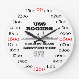 USS Rogers (DD-876) Large Clock