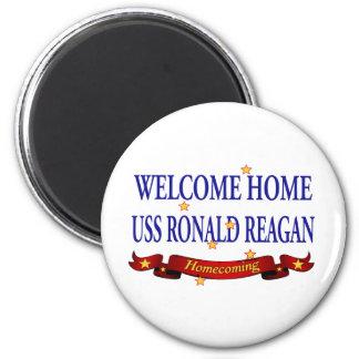 USS Ronald Reagan casero agradable Imán Redondo 5 Cm