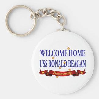 USS Ronald Reagan casero agradable Llavero Redondo Tipo Pin