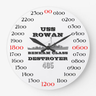 USS Rowan (DD-405) Large Clock