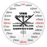 USS Rowan (DD-405) Wall Clocks