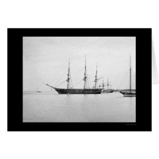 USS Sabine in Hampton Roads, VA 1864 Card