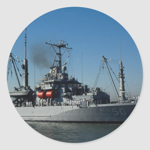 """USS Safeguard"""", salvage and repair ship Stickers"""