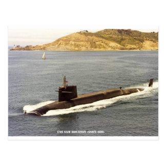 USS SAM HOUSTON POSTCARD