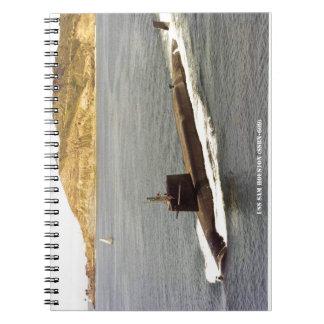 USS SAM HOUSTON SPIRAL NOTEBOOK