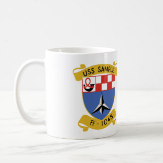 USS SAMPLE (FF-1048) COFFEE MUG