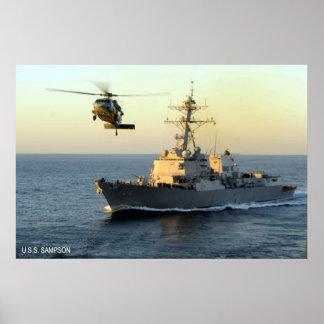 USS Sampson (DDG 102) Poster