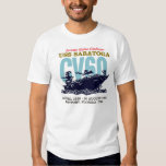 USS Saratoga CV60 Men's White T-Shirt