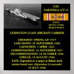 USS SARATOGA (CV-3) POSTER