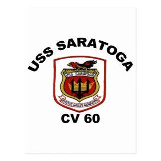 USS Saratoga CV-60 Postcard