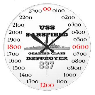 USS Sarsfield (DD-837) Large Clock