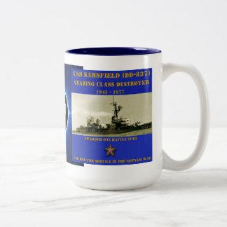 USS Sarsfield (DD-837) Mugs