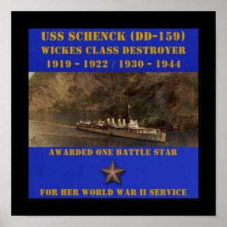 USS Schenck (DD-159) Impresiones