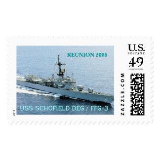 USS SCHOFIELD DEG / FFG-3 POSTAGE STAMP