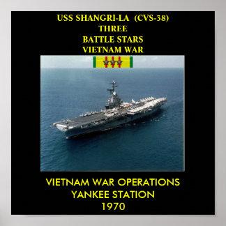 USS SHANGRI-LA  (CVS-38) POSTER