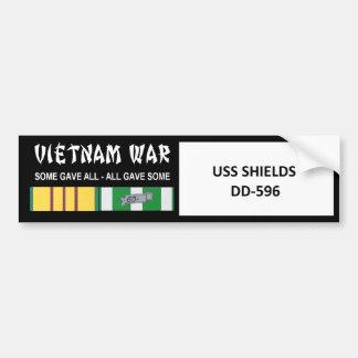 USS SHIELDS VIETNAM WAR VETERAN BUMPER STICKER