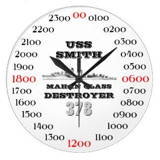 USS Smith (DD-378) Large Clock