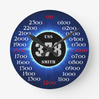 USS Smith (DD-378) Round Clock