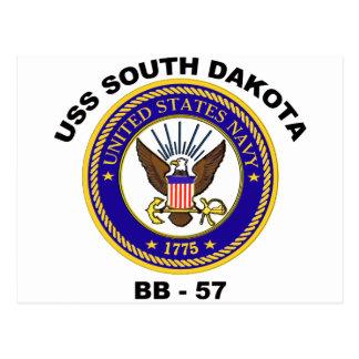 USS South Dakota (BB-57) Postcard