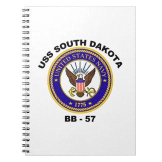 USS South Dakota (BB-57) Spiral Notebook