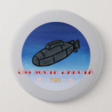 USS South Dakota submarine navy Button