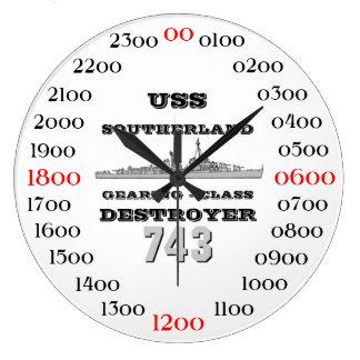 USS Southerland (DD / DDR 743) Large Clock