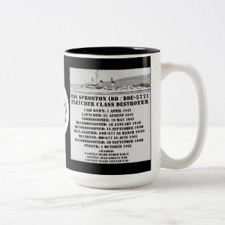 USS Sproston (DD / DDE-577) Two-Tone Coffee Mug