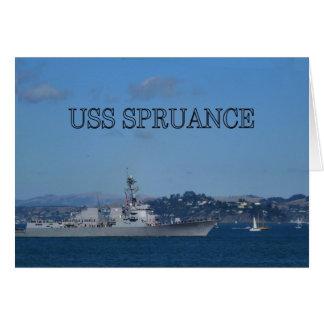 USS Spruance Card