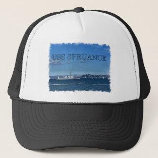 USS SPRUANCE FRAMED.jpg Trucker Hat