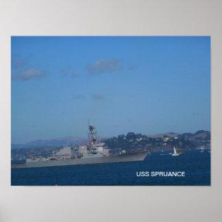 USS Spruance Poster