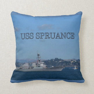 USS Spruance Throw Pillow