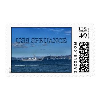 USS Spruance Timbre Postal