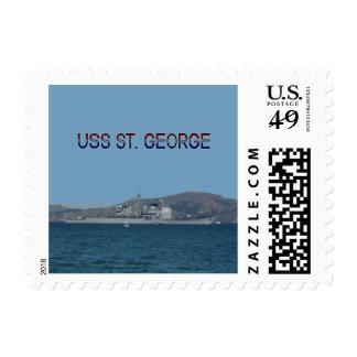 USS St. George Postage