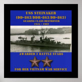 USS Steinaker (DD/DDR/DD-863) Poster