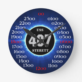USS Sterett (DD-407) Round Clock