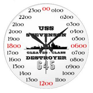 USS Stevenson (DD-645) Large Clock