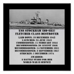 USS Stockham (DD-683) Poster