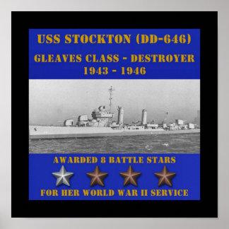 USS Stockton (DD-646) Print