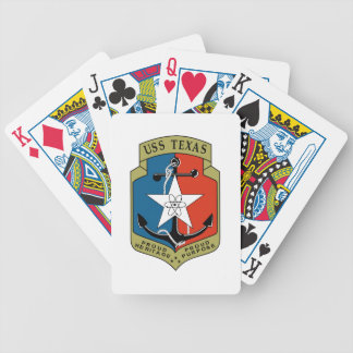 USS Texas (CGN 39) Bicycle Playing Cards