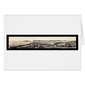 USS Texas in Havana Photo 1928 Card